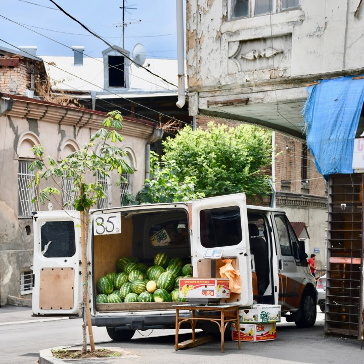 Tbilisi with kids watermelon van
