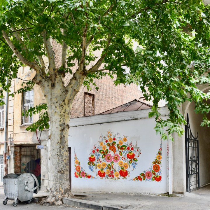Tbilisi with kids flower mural