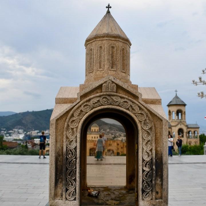 Tbilisi with children sameba church