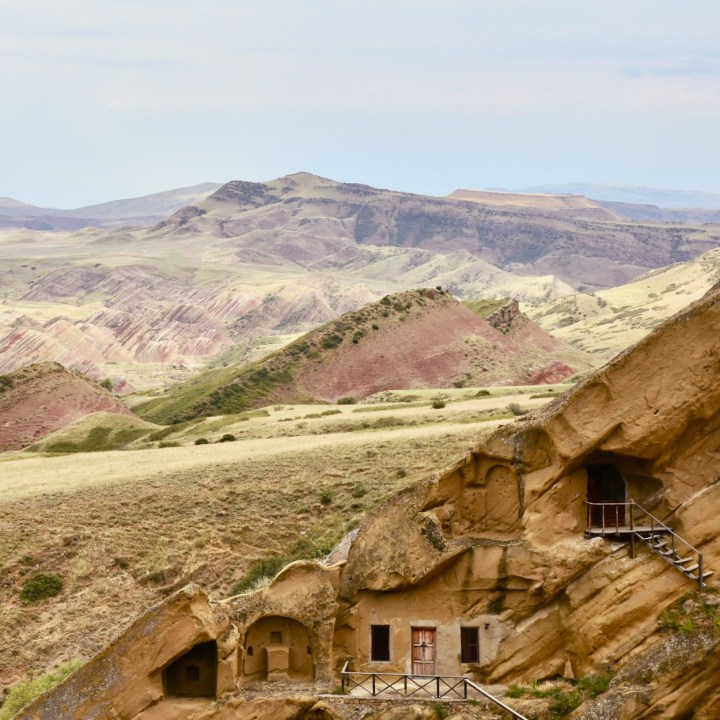 David Gareji Monastery with kids cave houses