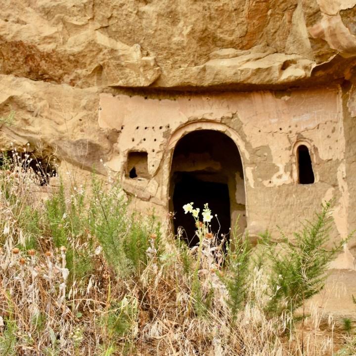 David Gareji Monastery with kids cave entry