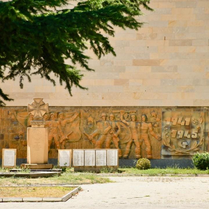 Gori Stalin Museum with kids war memorial