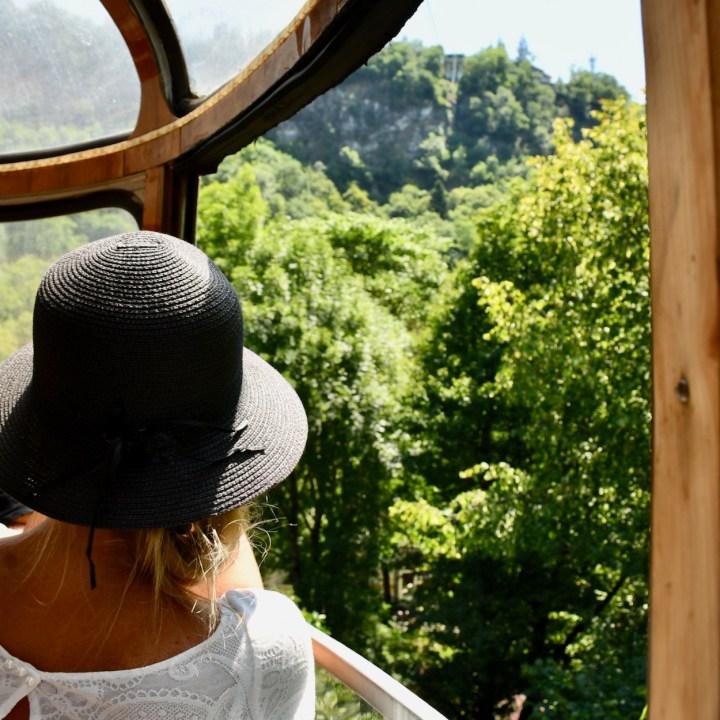 Borjomi with kids gondola ride
