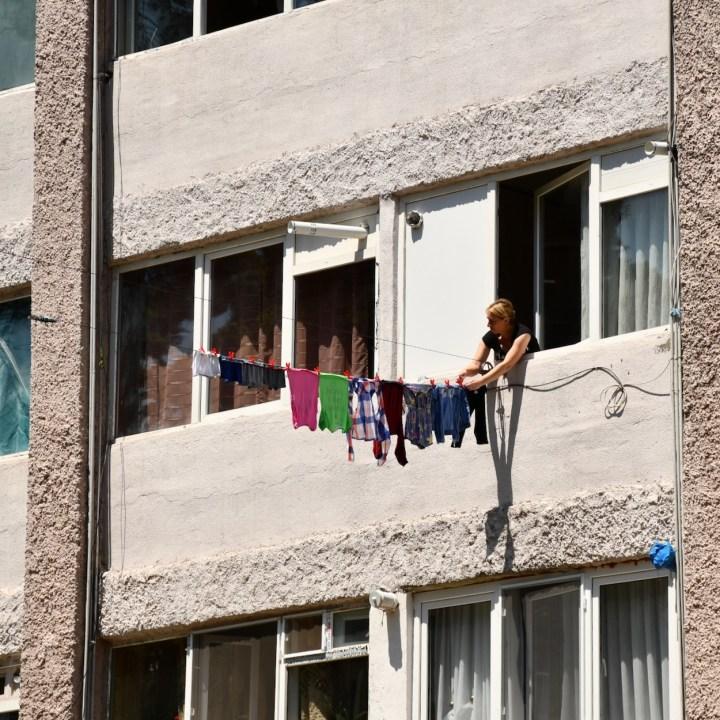 Borjomi with kids local woman