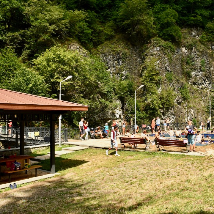 Borjomi with kids adventure trail sulphur baths