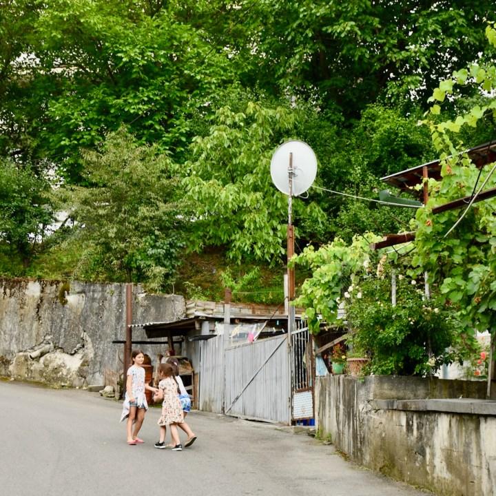Borjomi Georgia with kids local kids