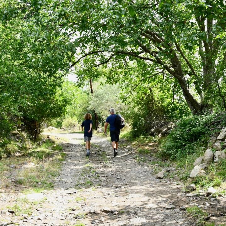 Askuri Georgia snowshoe hiking trail start