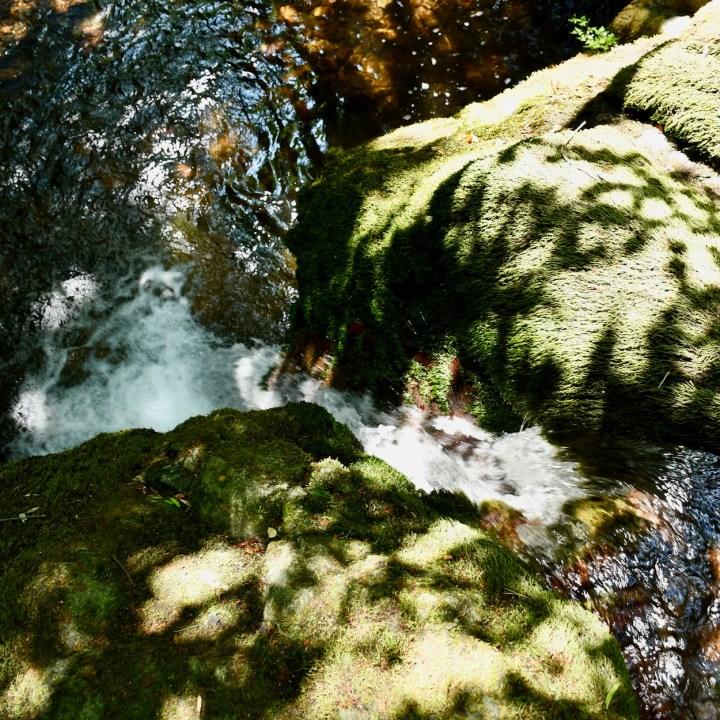 Askuri Georgia snowshoe hiking trail waterfall
