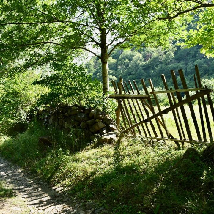 Askuri Georgia snowshoe hiking trail fence