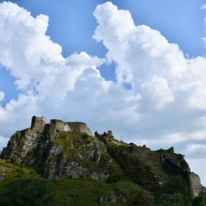 Atskuri castle Georgia with kids castle ruins