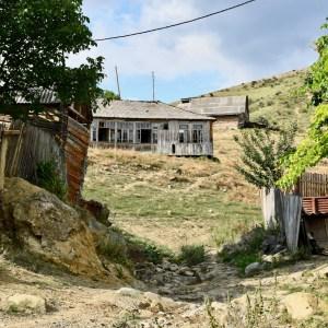 Atskuri castle Georgia with kids abandoned house