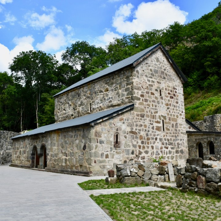 Green Monastery with kids church