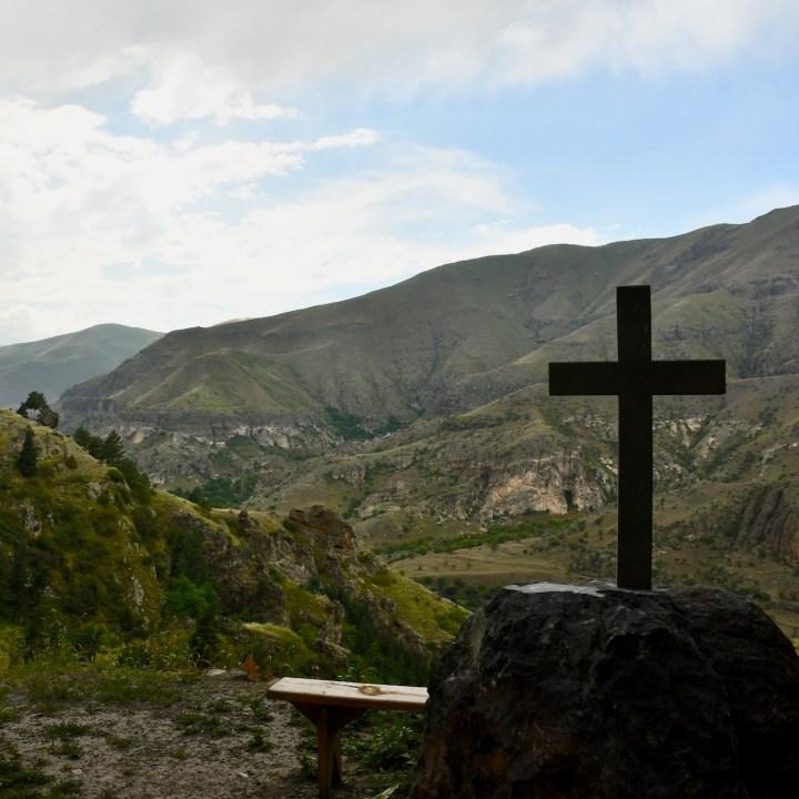 Vanis Kvabebi Cave Monastery valley view