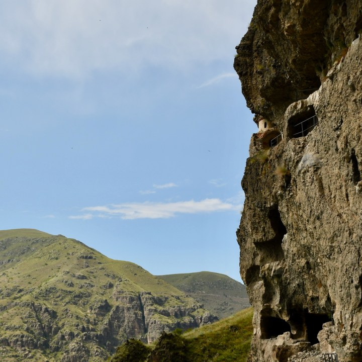 Vanis Kvabebi Cave Monastery chapel view