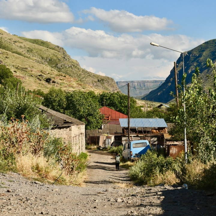 Khertvisi Georgia village scenery