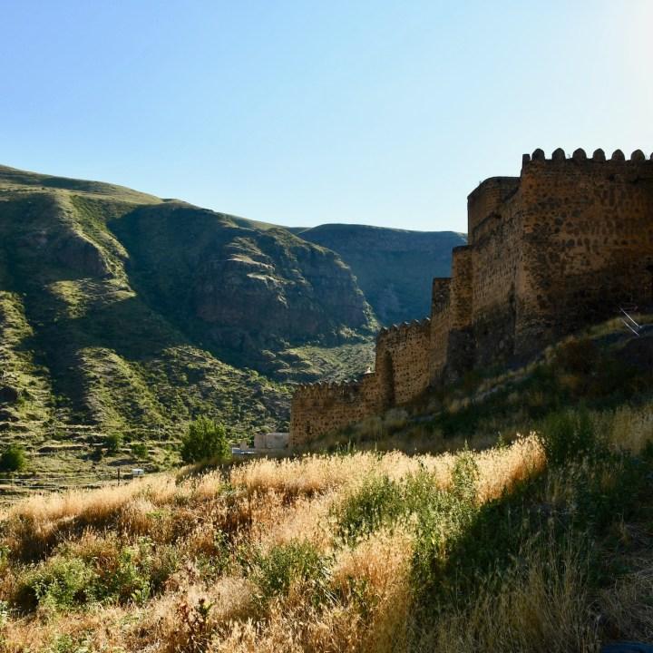 Khertvisi Georgia castle wall