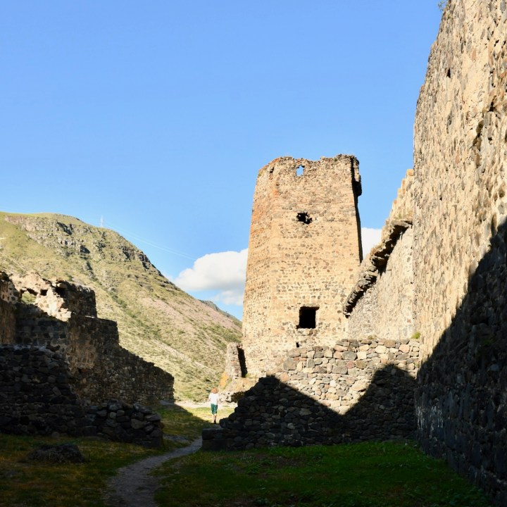 Khertvisi Georgia castle tower
