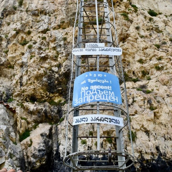 Katskhi Pillar Georgia ladder