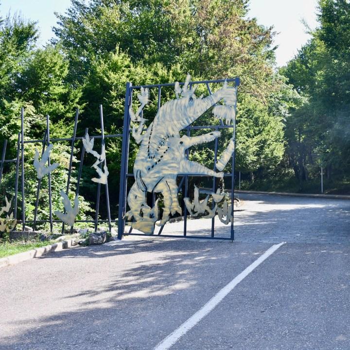 Sataplia Nature Reserve Georgia entrance gate