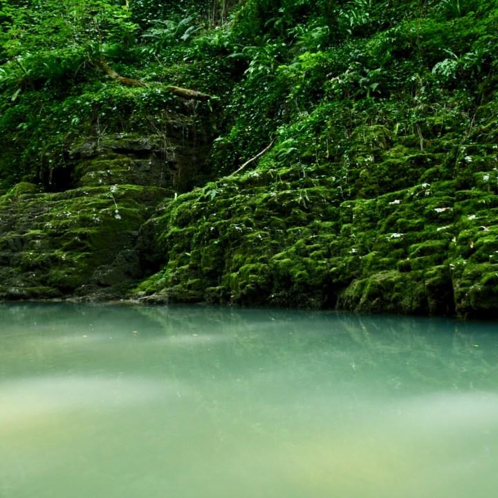 Martvili Canyon Georgia with kids milky water