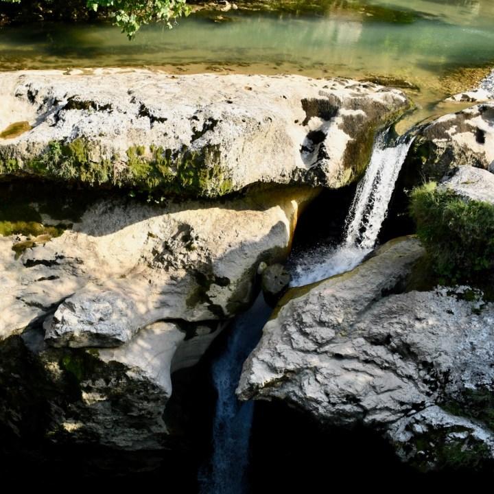 Martvili Canyon Georgia with kids waterfall