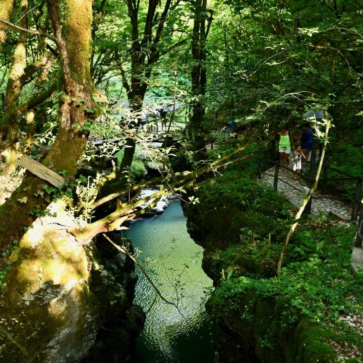 Martvili Canyon Georgia with kids path