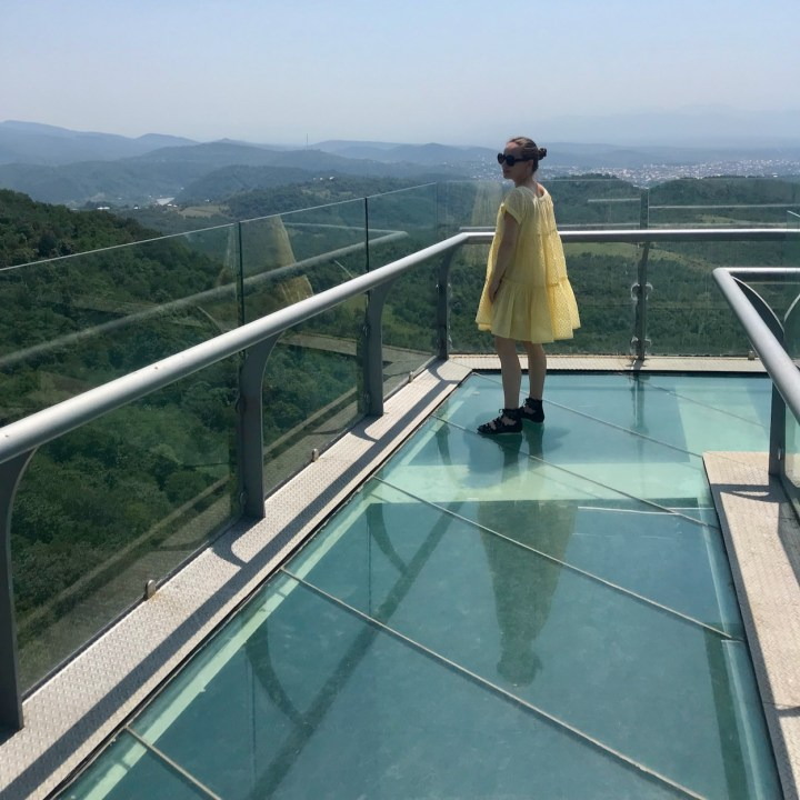 Sataplia Nature Reserve Georgia glass viewing platform