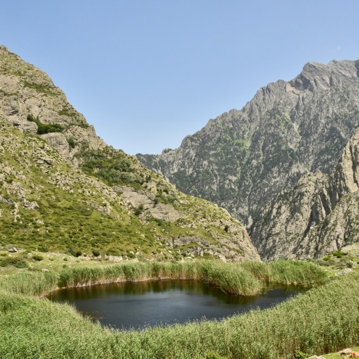 Gveleti heart shaped lake