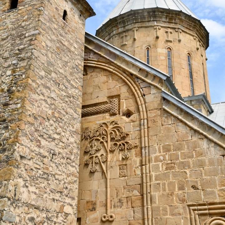 Ananuri church Georgia stone carvings