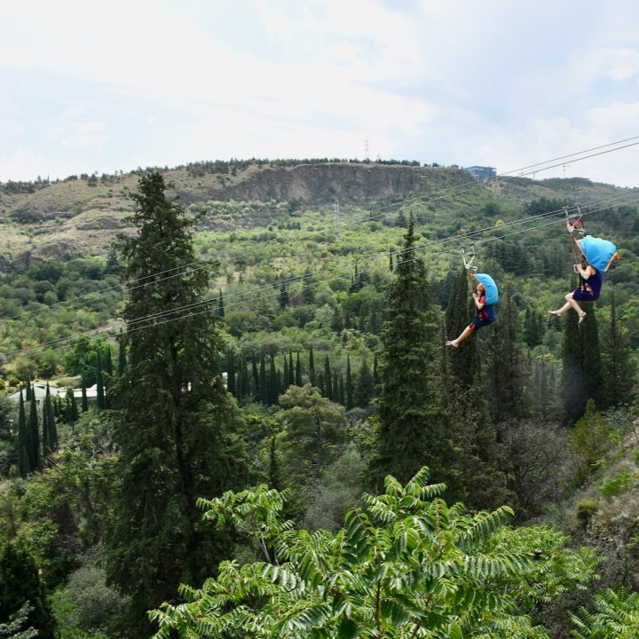 zip lining Tbilisi botanical garden
