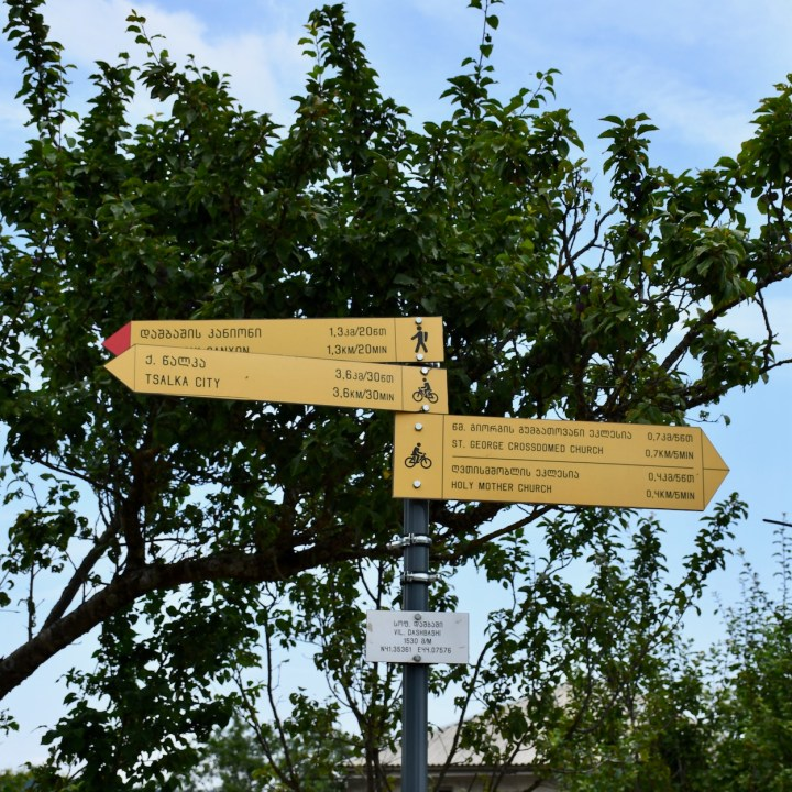 Dashbashi canyon signposts