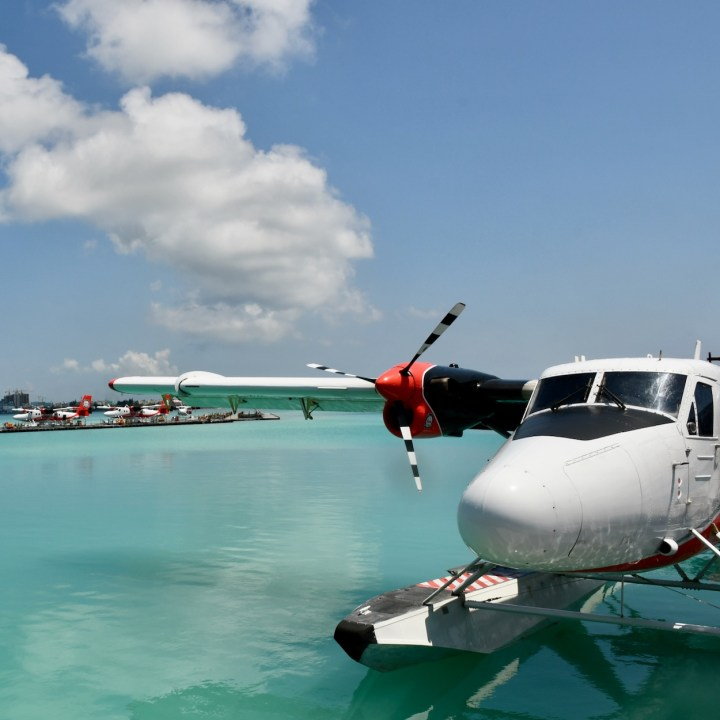 Maldivian air water plane