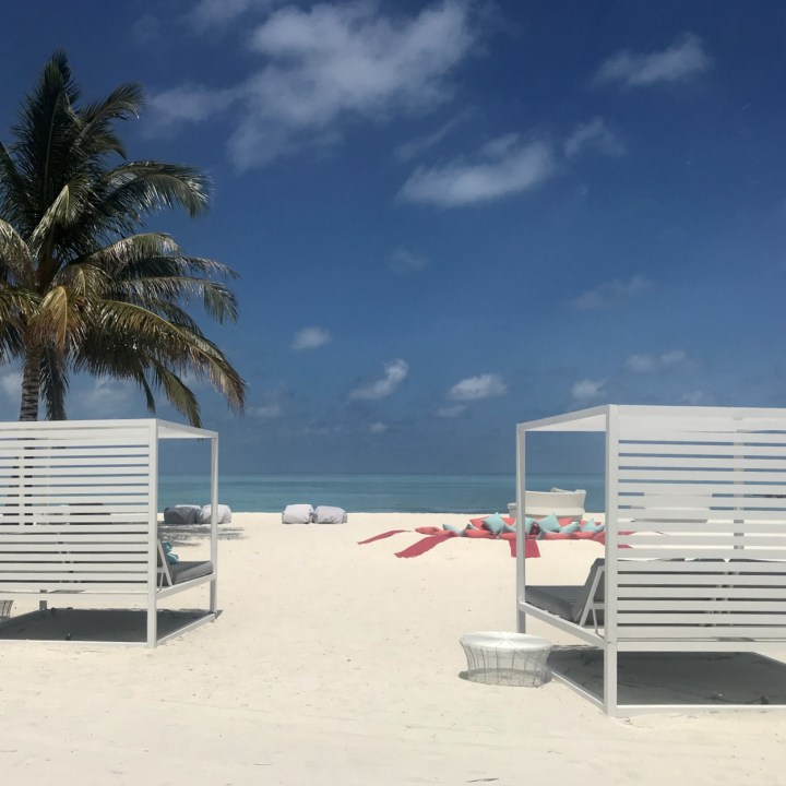 Lux South Ari beach loungers