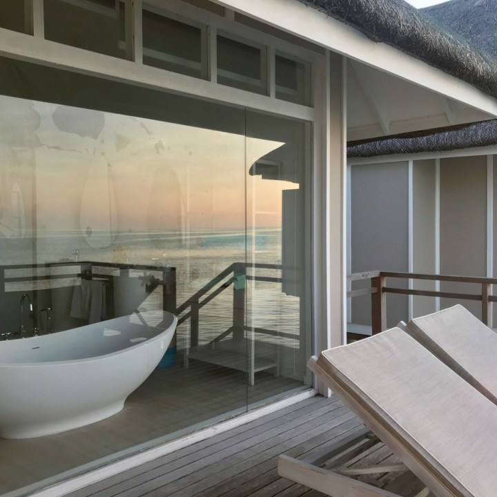 Lux South Ari water villa bathroom