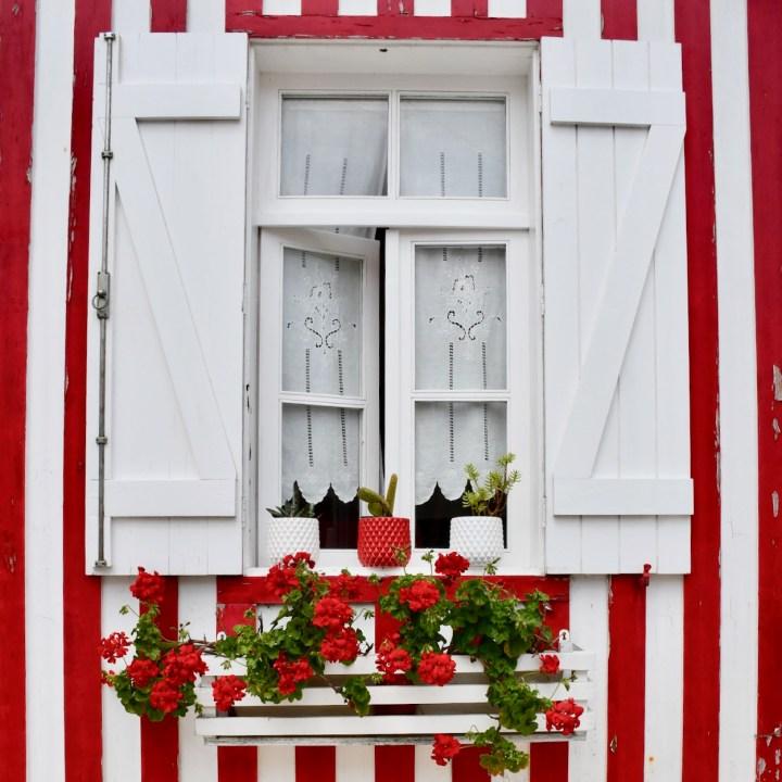 Costa Nova Portugal french shutters