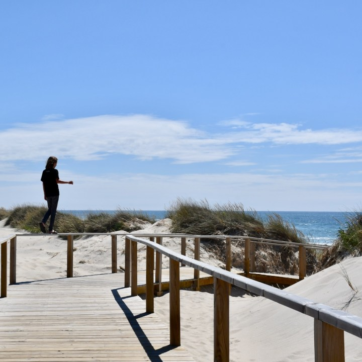 Costa Nova Portugal beach board walk