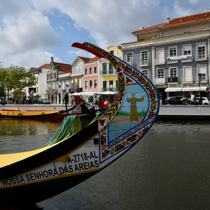 Aveiro Portugal canal boat detail