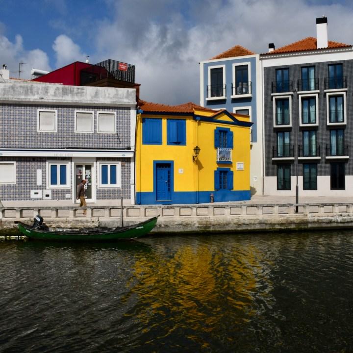 Aveiro Portugal yellow house