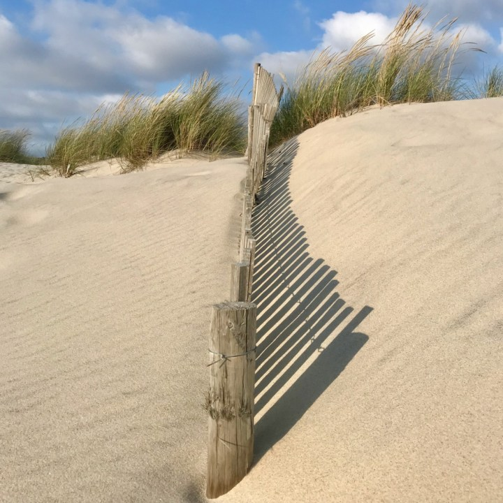 Costa Nova Portugal dune shadows