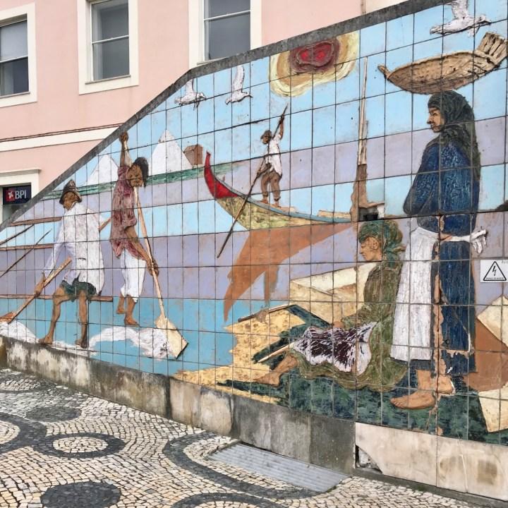 Aveiro Portugal tiled mural