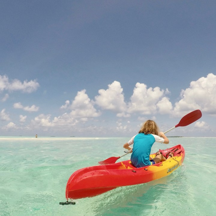 kayaking Maldives