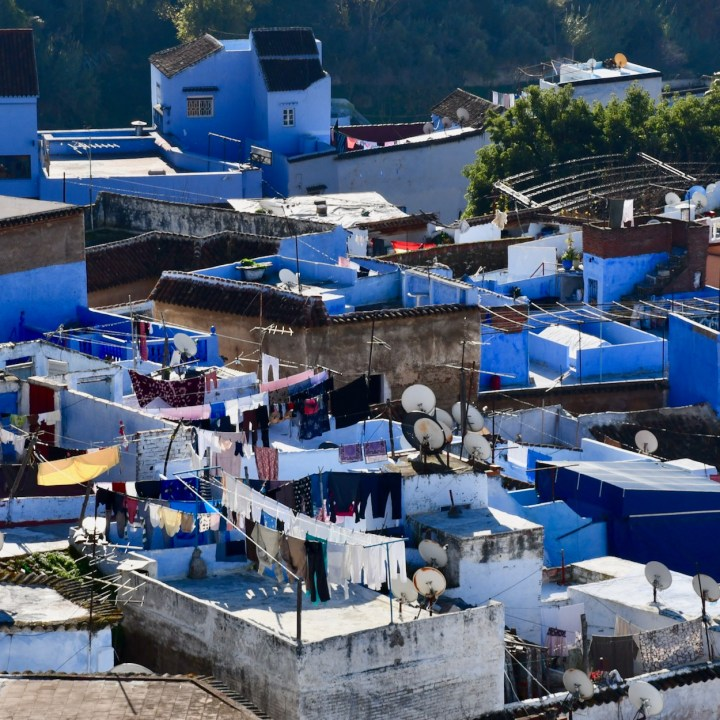 Chefchaouen Morocco rooftops