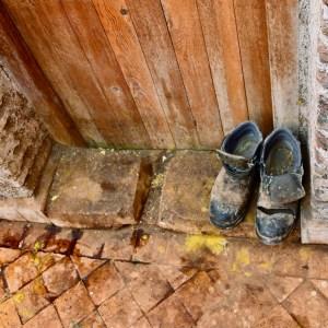 Fez Ain Azliten tannery worker boots