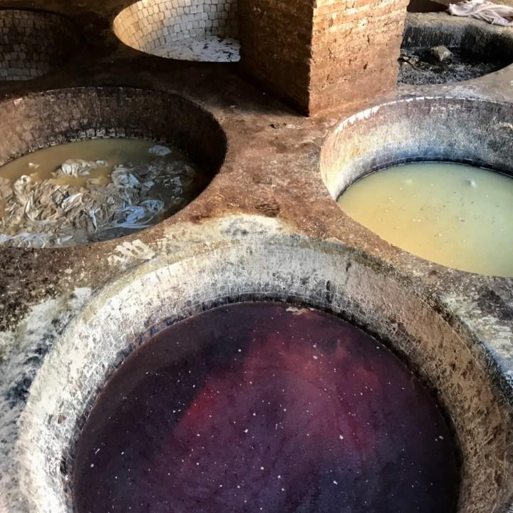 Fez Ain Azliten tannery dye baths
