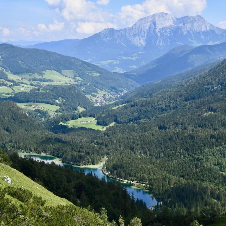 Hintersee Halsalm hike panorama