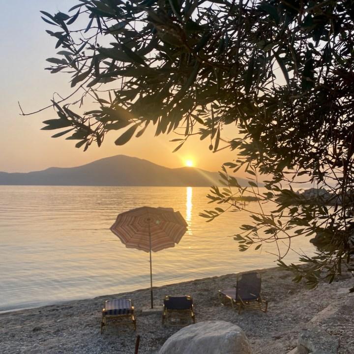 Albania, Radhime, sunset