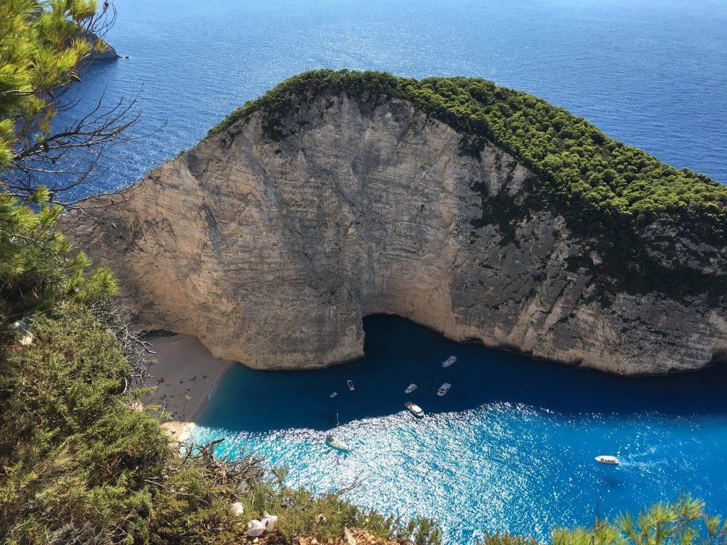 Things to do Zante - Smugglers Bay - Shipwreck Cove