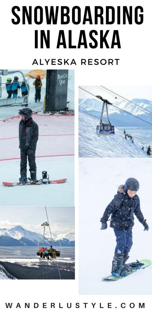 Snowboarding in Alaska - Alyeska Resort | Wanderlustyle.com