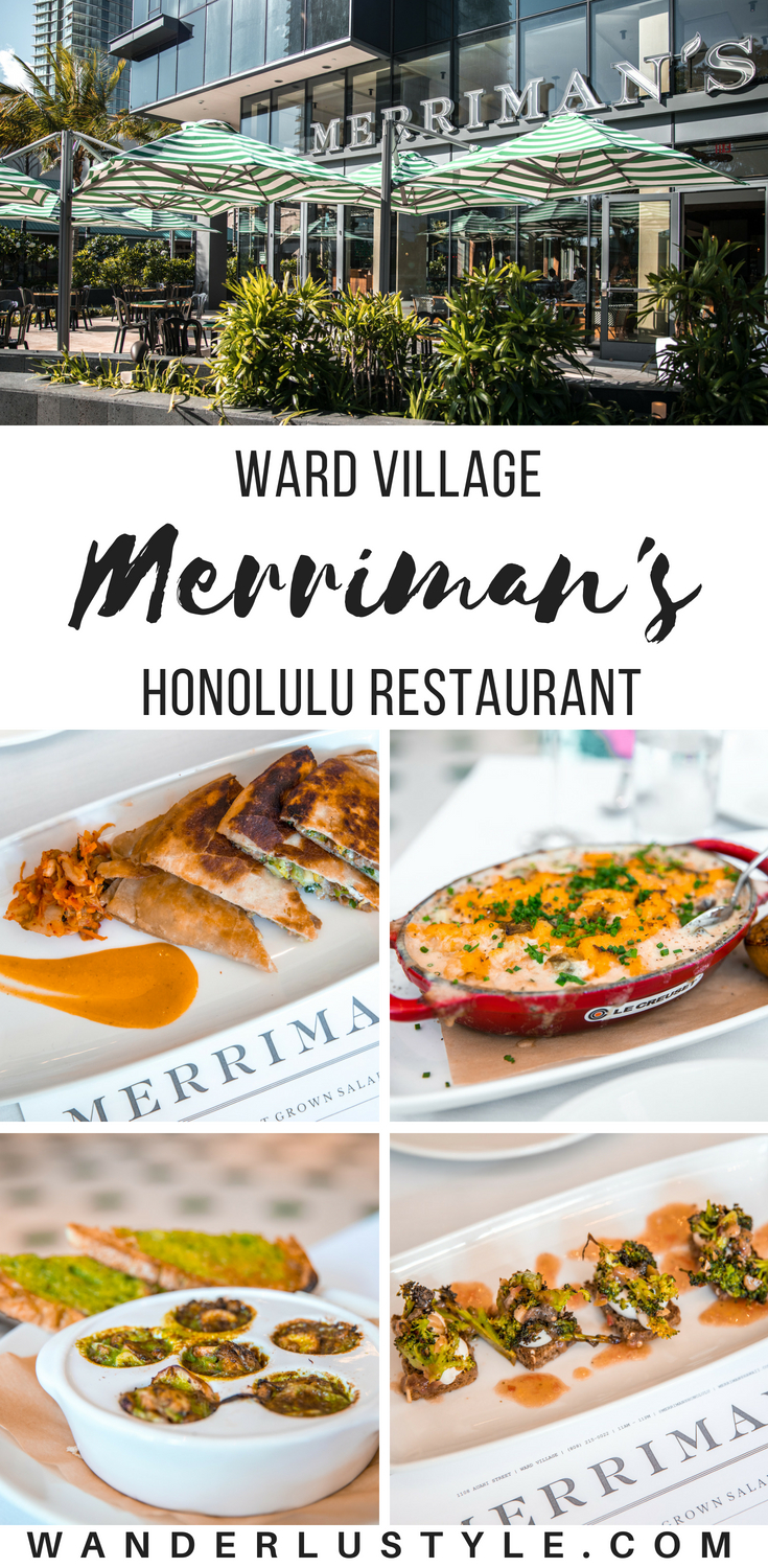 Merriman's Restaurant Honolulu - Ward Village, Honolulu Restaurants, Honolulu Dining, Merriman's Restaurant, Peter Merriman | Wanderlustyle.com