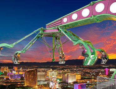 5 Best Thrill Activities To Do in Las Vegas - Las Vegas Travel Guide, Things to do Las Vegas, Las Vegas Activities, Best things to do in las vegas, High roller, Las Vegas Observation Wheel, the linq, slotzilla zip line, fremont experience, fremont, big apple roller coaster, new york new york hotel and casino, adventuredome, circus circus hotel, stratosphere, escape room las vegas, saw escape room, vegas indoor skydiving | Wanderlustyle.com